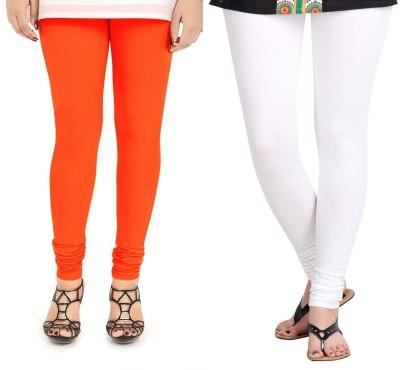 ZACHARIAS Women's Orange, White Leggings