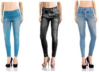 Jeansi Women's Blue, Black, Blue Jeggings