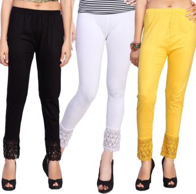 Comix Women's Black, White, Yellow Leggings
