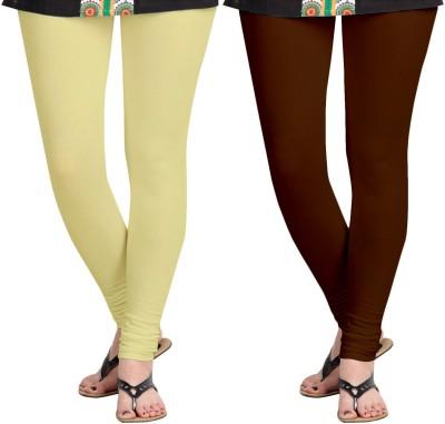 Aannie Women's Beige, Brown Leggings(Pack of 2) at flipkart