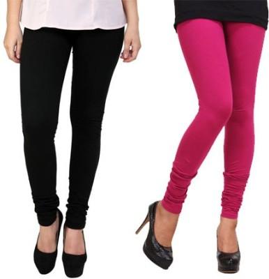 Dharamanjali Women's Black, Pink Leggings