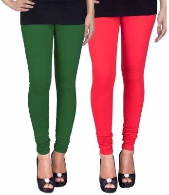 Ayesha Fashion Women's Green, Red Leggings