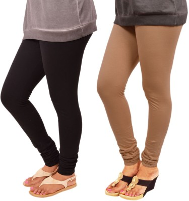 Leggings World Women's Black, Beige Leggings