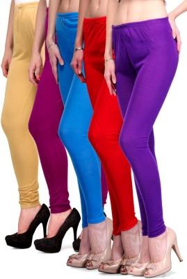 Rowena Women's Beige, Purple, Light Blue, Red, Purple Leggings