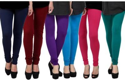 Fashion Zilla Women's Dark Blue, Maroon, Purple, Blue, Pink, Green Leggings