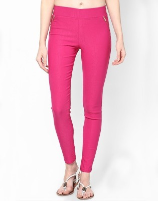 PINK SISLY Women's Pink Jeggings