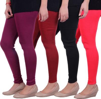 Sellsy Women's Purple, Maroon, Black, Orange Leggings