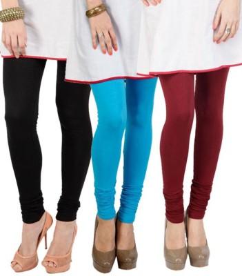 Shikha Women's Black, Light Blue, Brown Leggings