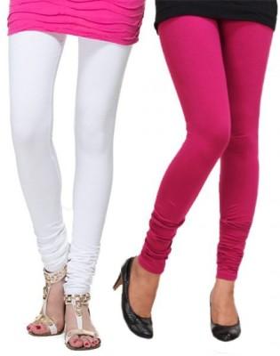 StyleJunction Women,s White, Pink Leggings