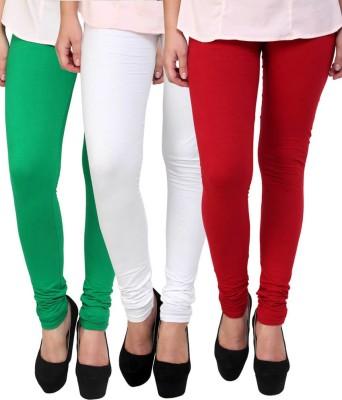 Lavish Women,s Green, White, Red Leggings