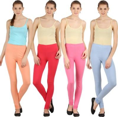 Silvio Women's Light Blue, Pink, Beige, Red Leggings