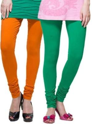 Apsn Retail Women's Orange, Green Leggings
