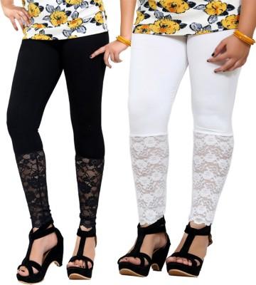 By The Way Women's Black, White Leggings