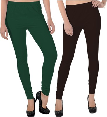 X-Cross Women's Dark Green, Brown Leggings