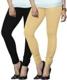 Arma Women's Black, Beige Leggings (Pack...