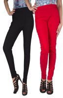 iHeart Women's Red, Black Jeggings best price on Flipkart @ Rs. 749