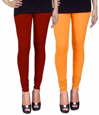 Ayesha Fashion Women's Maroon, Yellow Leggings