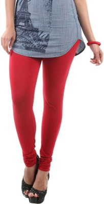 Fashionjackpot Women's Red Leggings