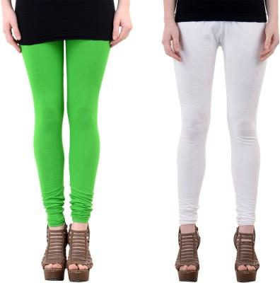 Mynte Women's Green, White Leggings