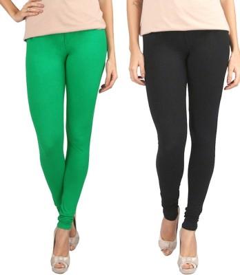 KANNAN Women's Black, Green Leggings