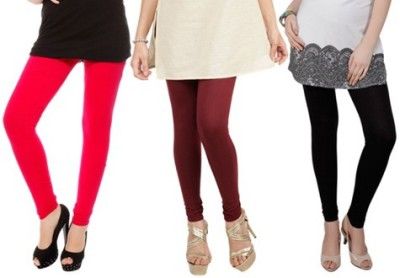 Prekrasna Women,s Red, Maroon, Black Leggings