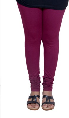 IndiWeaves Women's Maroon Leggings at flipkart