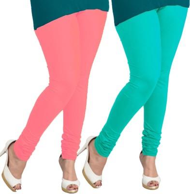 I-Diva Women's Pink, Light Blue Leggings