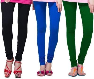 Zadine Women's Black, Dark Blue, Dark Green Leggings