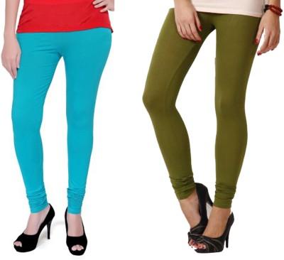 Boofa Women's Green, Blue Leggings