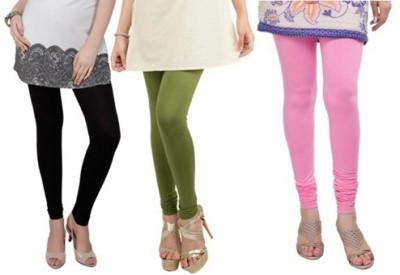 Prekrasna Women,s Black, Light Green, Pink Leggings