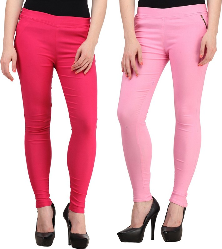 FIFO Women's Pink Jeggings(Pack of 2)
