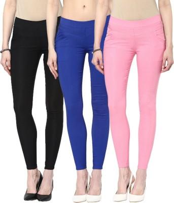Zea-Al Women's Black, Blue, Pink Jeggings