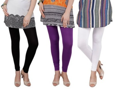 Bembee Women's Black, White, Purple Leggings