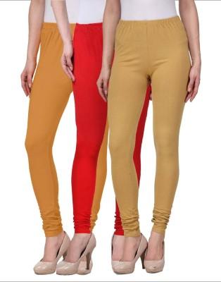 Desi Duos Women's Beige, Brown, Red Leggings