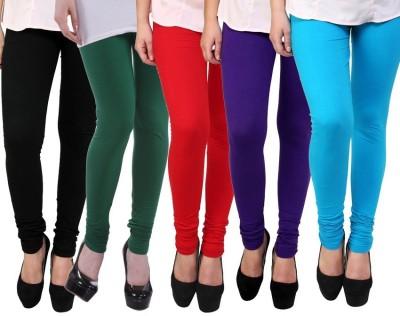 Myra Softwear Women's Black, Green, Red, Dark Blue, Light Blue Leggings