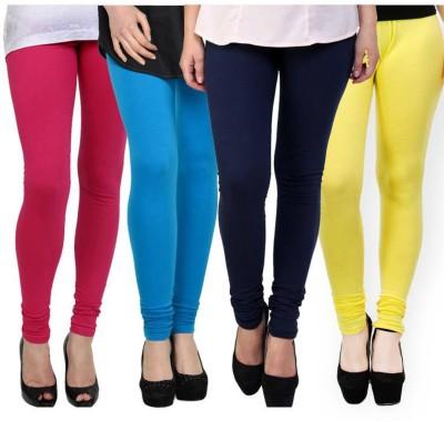 Fashion Zilla Women's Pink, Blue, Dark Blue, Yellow Leggings