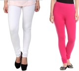 StudioRavel Women's White, Pink Leggings...