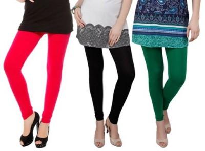 Prekrasna Women,s Red, Black, Green Leggings