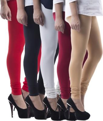Prashil Women's Black, Red, White, Maroon, Beige Leggings