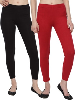 Aloft Women's Black, Red Leggings
