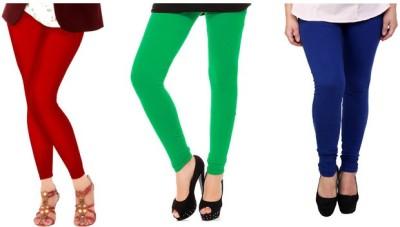 m&j Women's Green, Blue, White Leggings