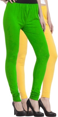 Venustas Women's Yellow, Light Green Leggings