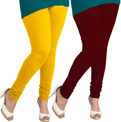 I-Diva Women's Yellow, Maroon Leggings