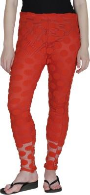 Franclo Women's Orange Leggings