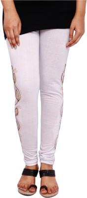 Fine Colors Women's White Leggings