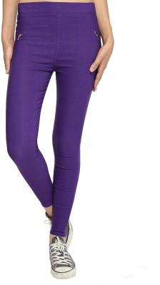 TouchMe Women's Purple Jeggings