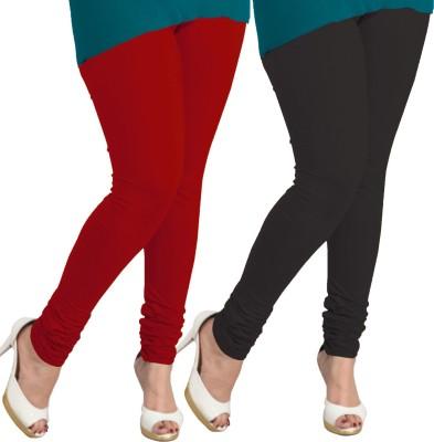 I-Diva Women's Red, Black Leggings