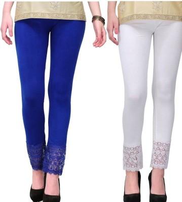 MDS Jeans Women's Blue, White Leggings