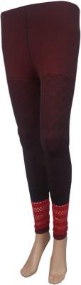Stylefunia Women's Black, Maroon Leggings