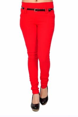 Zrestha Women's Red Jeggings
